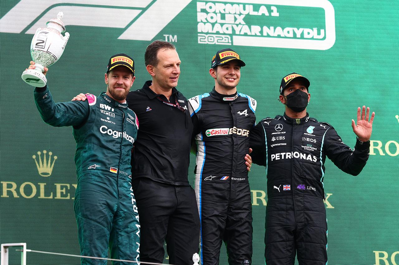 F1ハンガリーGP 決勝:大波乱のレースでアルピーヌF1のオコンが初優勝!角田裕毅は7位入賞