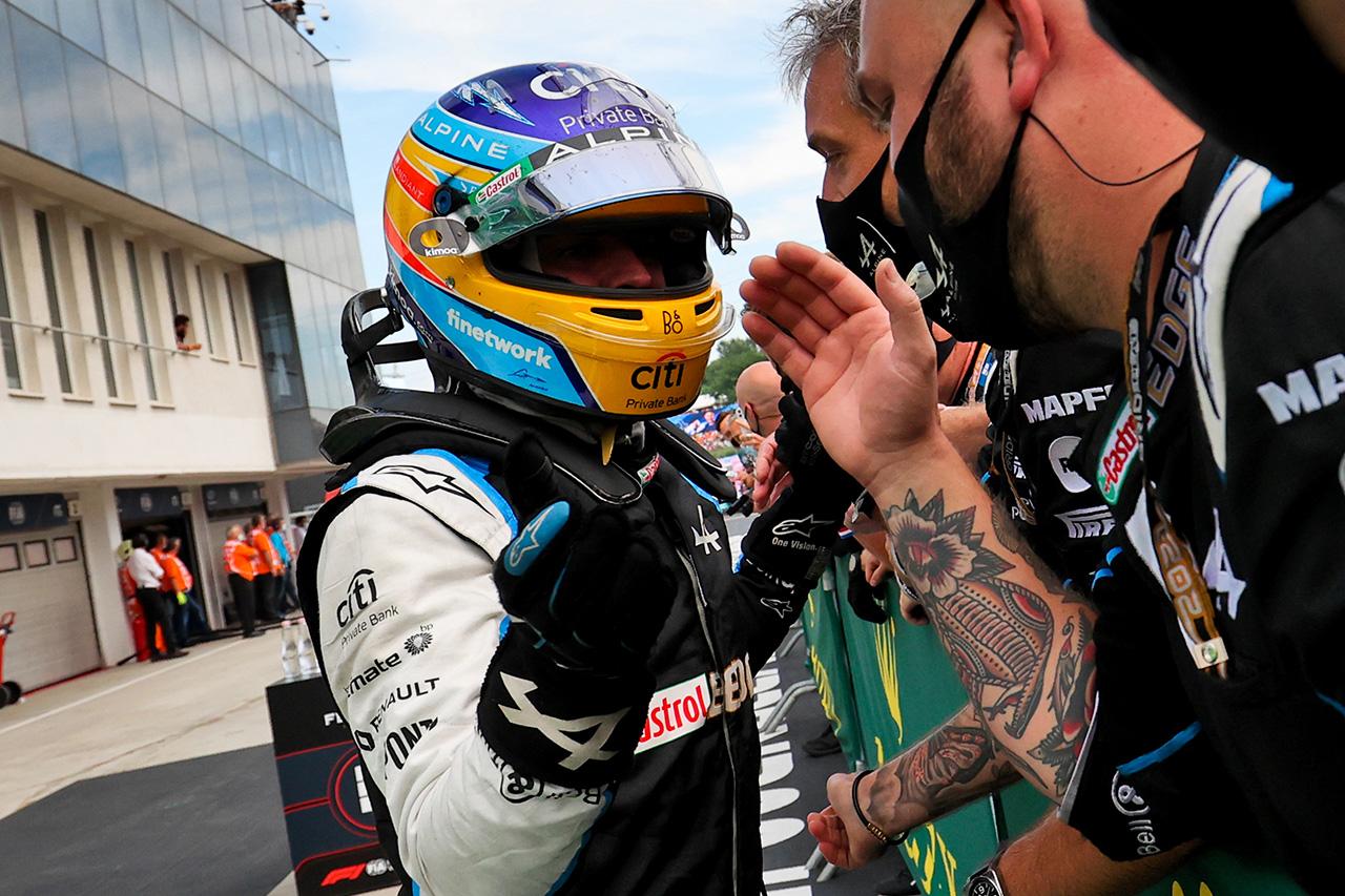 フェルナンド・アロンソ 「僕たちは過去の歴史を繰り返すことができる」 / アルピーヌ F1ハンガリーGP 決勝