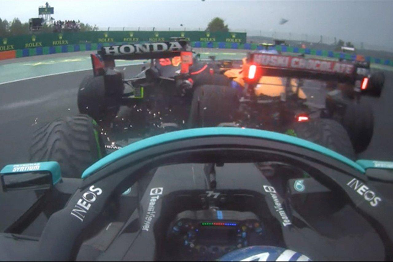 """メルセデスF1代表、ボッタスの""""小さなミス""""をレッドブル・ホンダに謝罪 / F1ハンガリーGP 決勝"""