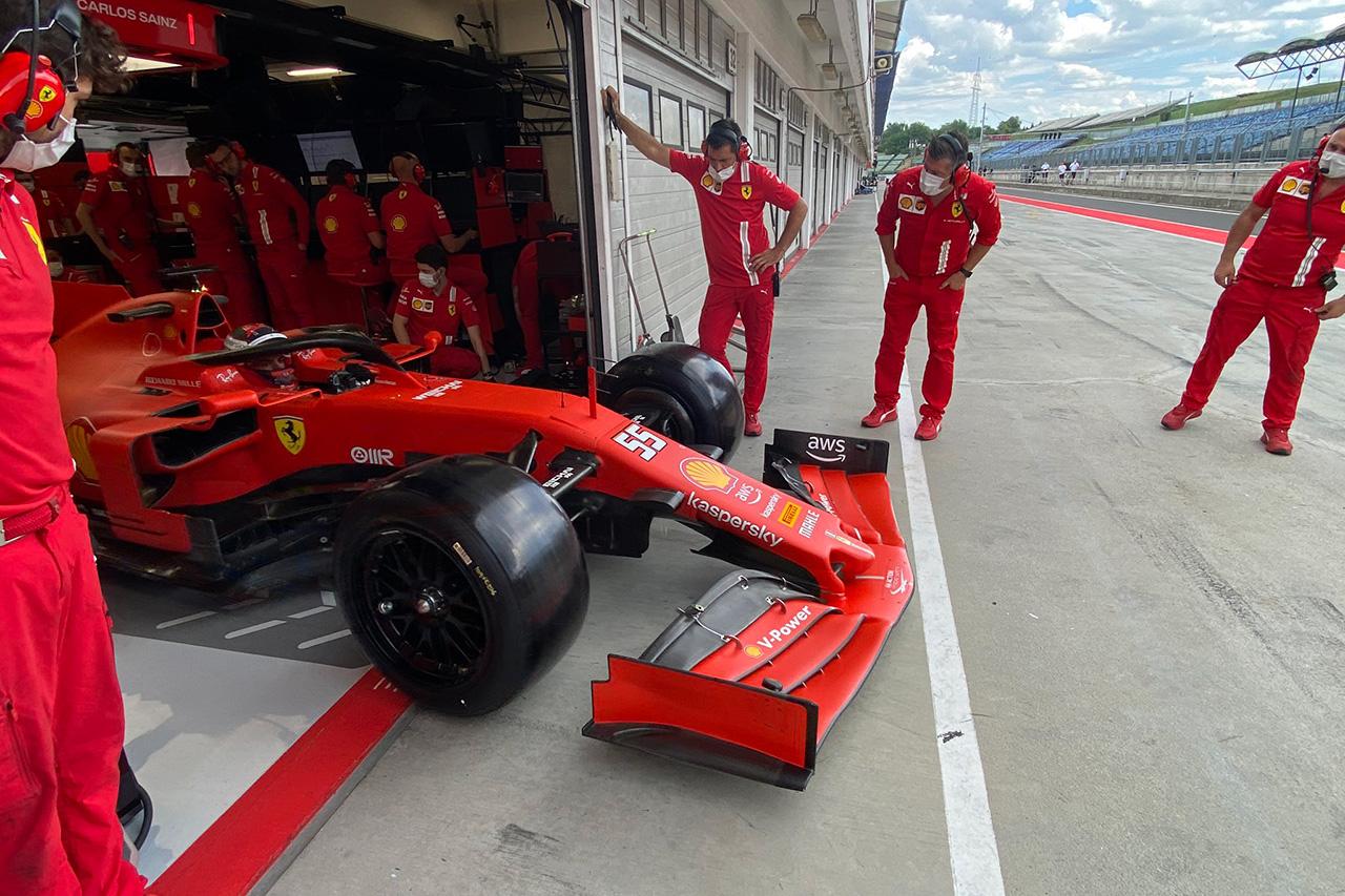 フェラーリ 18インチF1タイヤテスト