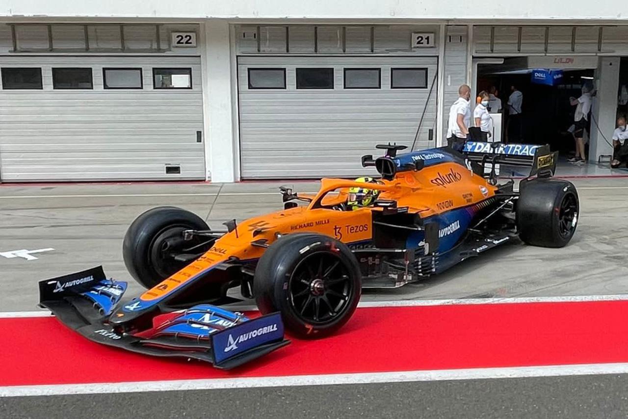 マクラーレン 18インチF1タイヤテスト