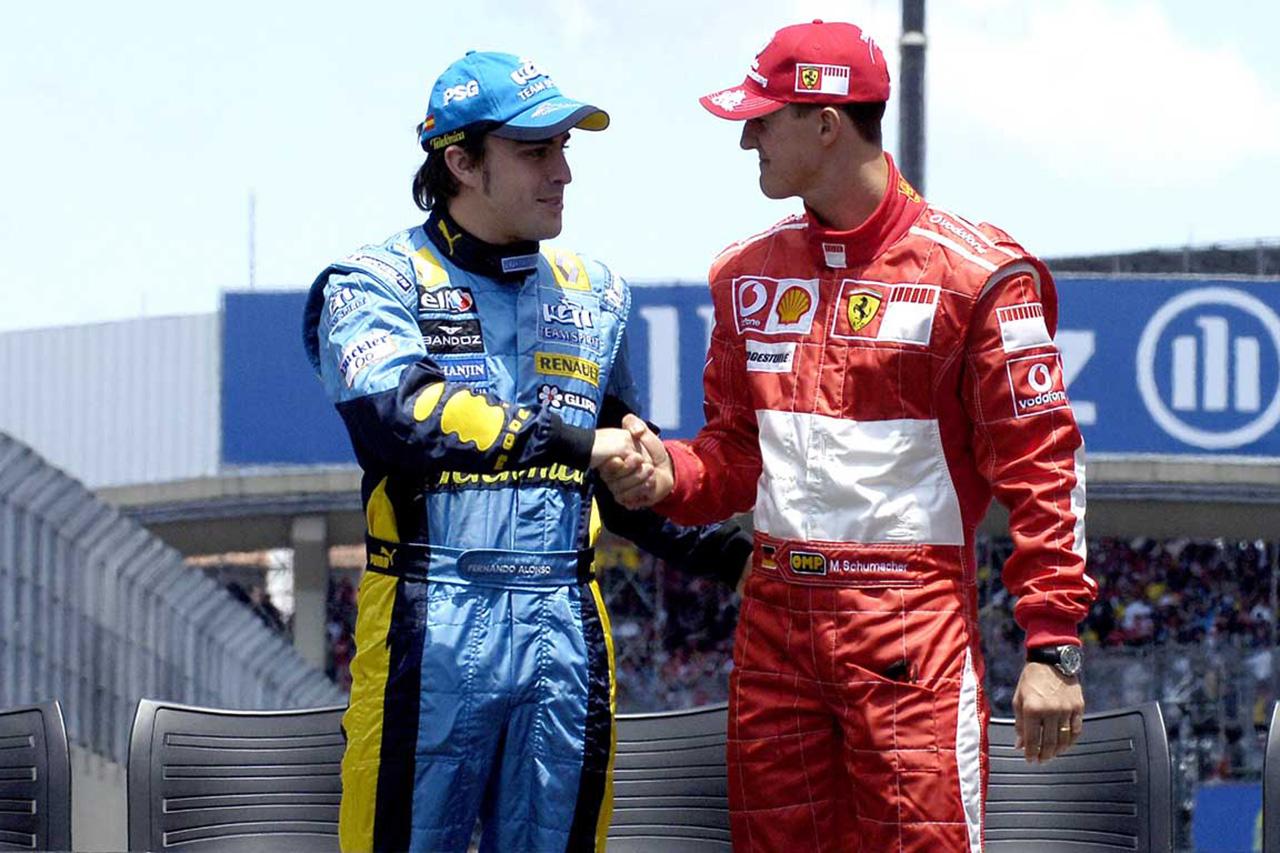 F1:フェルナンド・アロンソ 「シューマッハは他のドライバーとは違った存在」