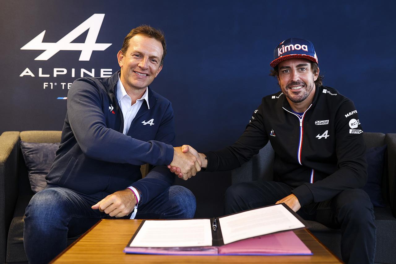 フェルナンド・アロンソ、2022年もアルピーヌF1チームに残留