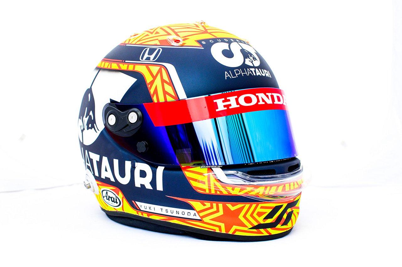 角田裕毅、アントワーヌ・ユベールを追悼したスペシャルヘルメット / 2021年 F1ベルギーGP