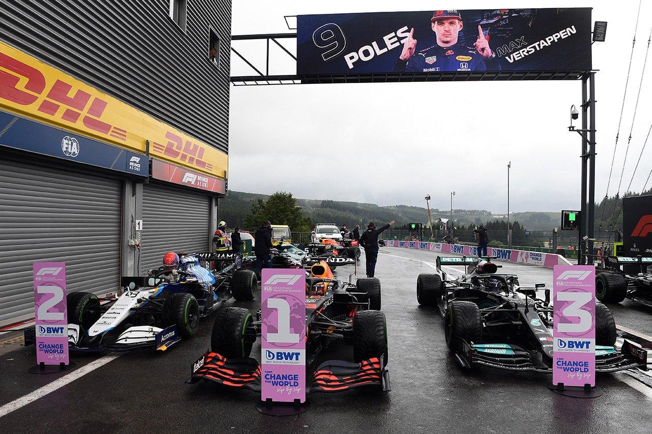 2021年 F1ベルギーGP 決勝:スターティンググリッド