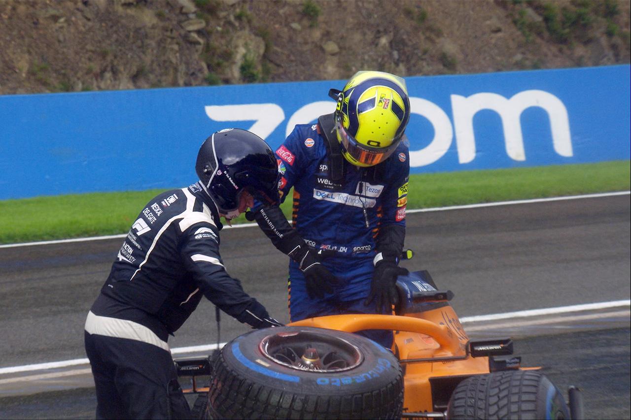 大クラッシュのランド・ノリス、肘のX線検査のため病院に搬送 / F1ベルギーGP 予選