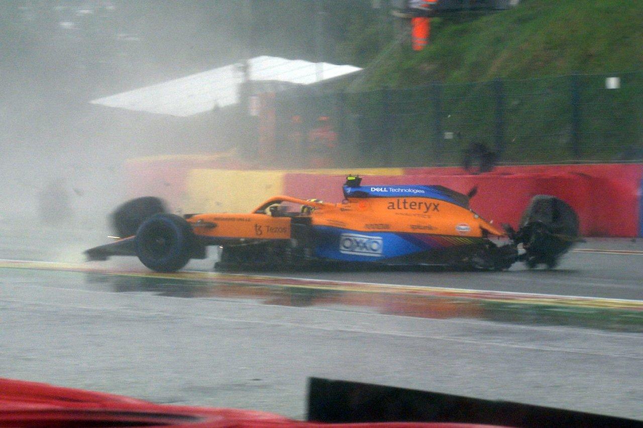 【動画】 ランド・ノリス、予選Q3でオー・ルージュで大クラッシュ / F1ベルギーGP