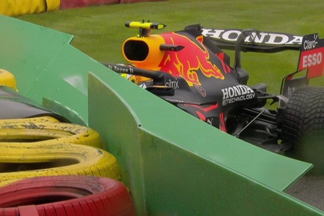 セルジオ・ペレス、レコノサンスラップでクラッシュを喫してDNS / F1ベルギーGP 決勝