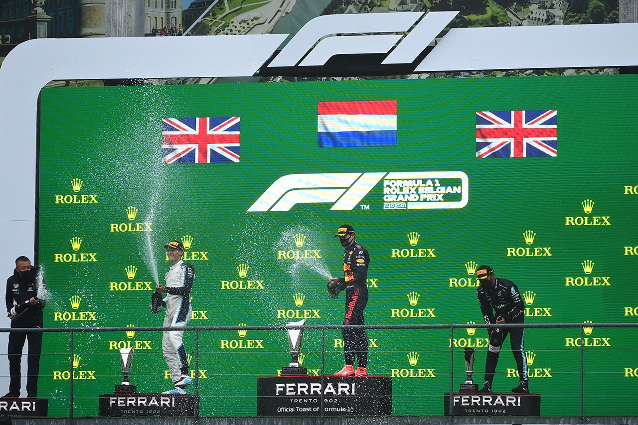 2021年 F1ポイントランキング (第12戦 F1ベルギーGP 終了時点)