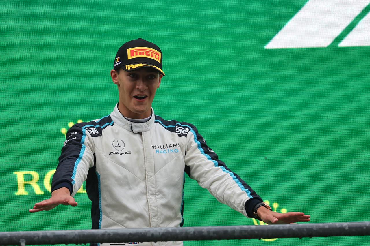 ジョージ・ラッセル、F1初表彰台「どんな形であろうと受け取らせてもらう」 / F1ベルギーGP 決勝