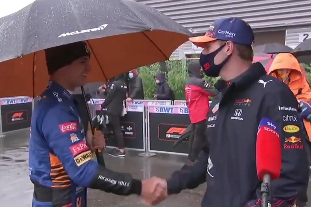 """ランド・ノリス、""""不戦勝""""のフェルスタッペンに「信じられない走りだった」 / F1ベルギーGP 決勝"""