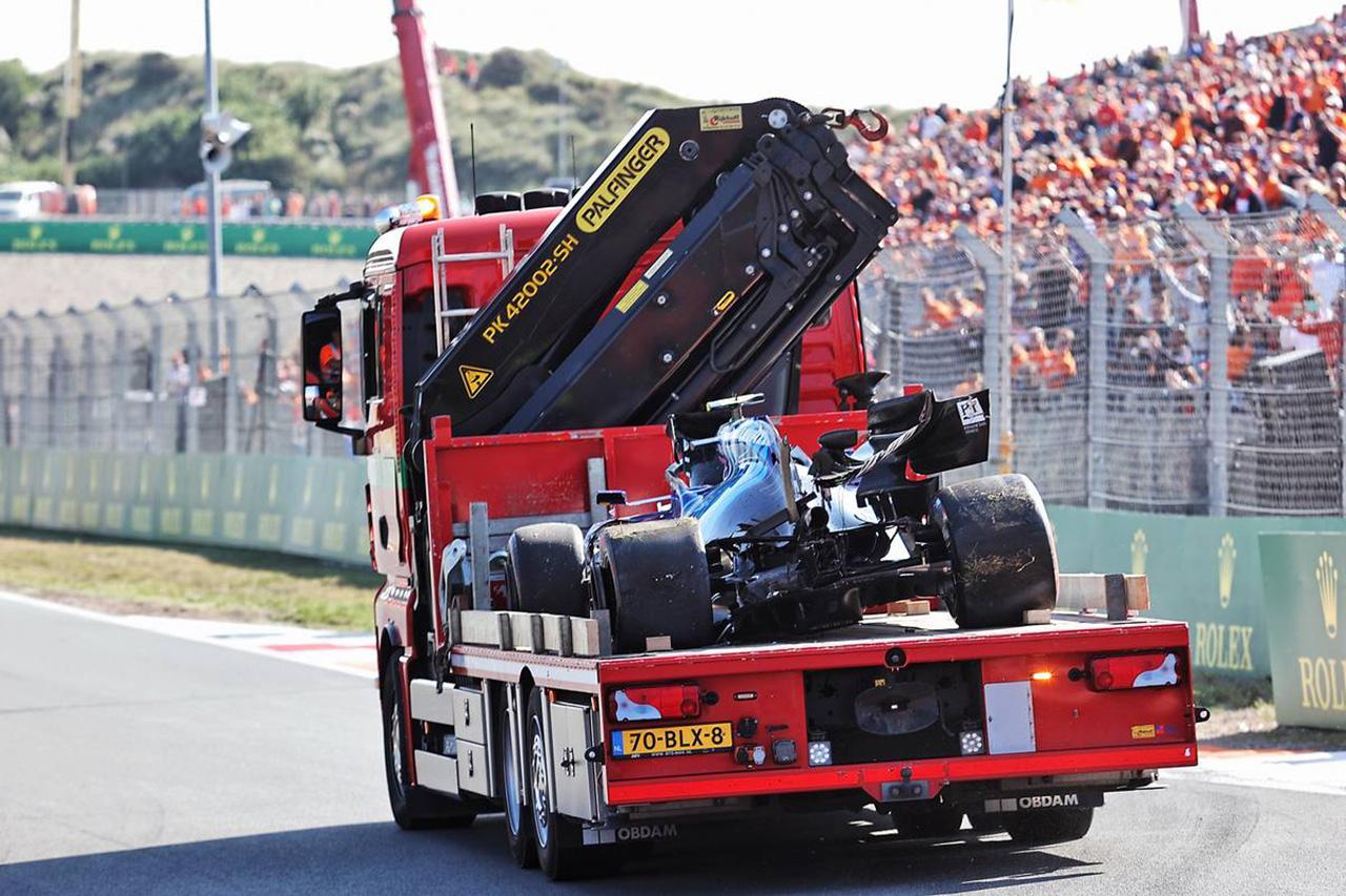 ニコラス・ラティフィ、ギアボックス&パーツ交換でピットレーンスタート / F1オランダGP 決勝