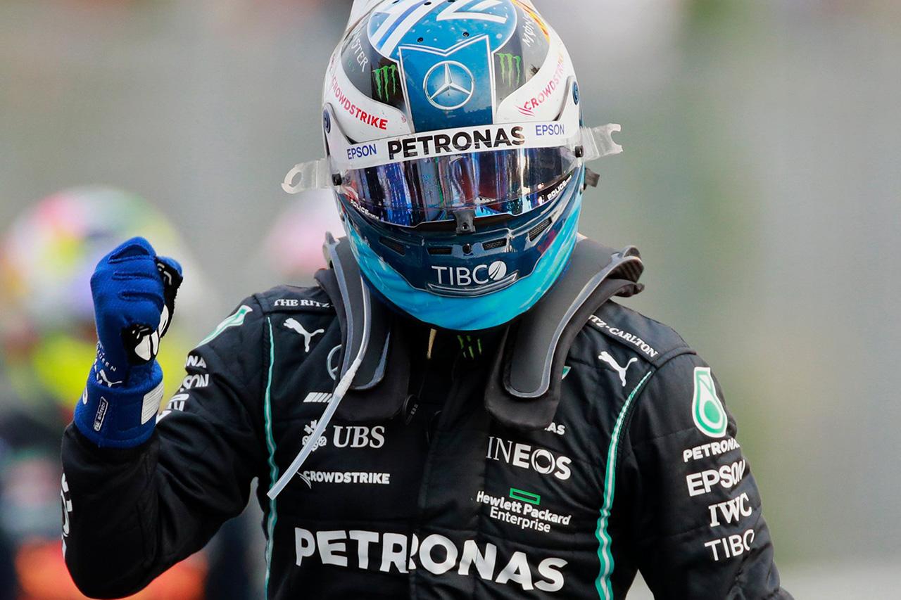 F1イタリアGP 予選:ボッタスが最速でメルセデスがフロントロー独占。フェルスタッペンは0.4秒差の3番手