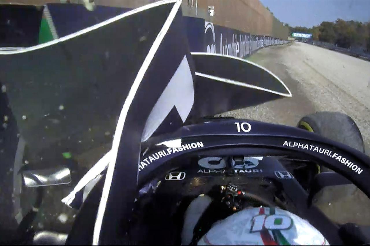 クラッシュのピエール・ガスリー、決勝のピットレーンスタートを覚悟 / F1イタリアGP スプリント予選
