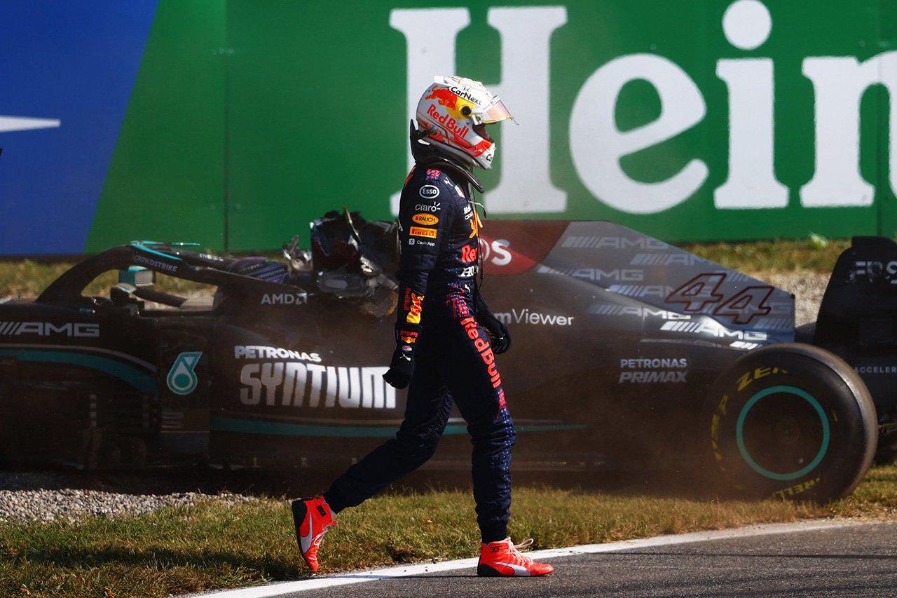 マックス・フェルスタッペン、次戦F1ロシアGPで3グリッド降格ペナルティ…ハミルトンとの接触の責任 / F1イタリアGP 決勝