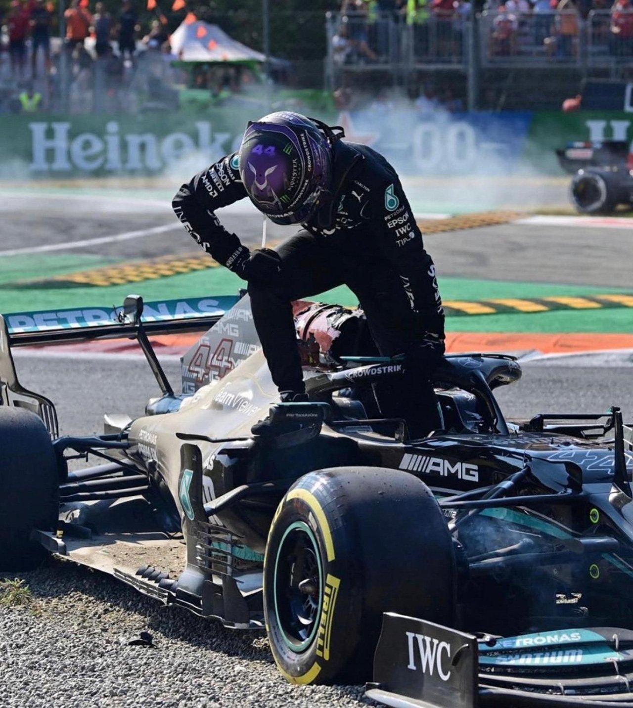 ルイス・ハミルトン 「ヘイローに命を救われた。生きていることに感謝」 / F1イタリアGP 決勝