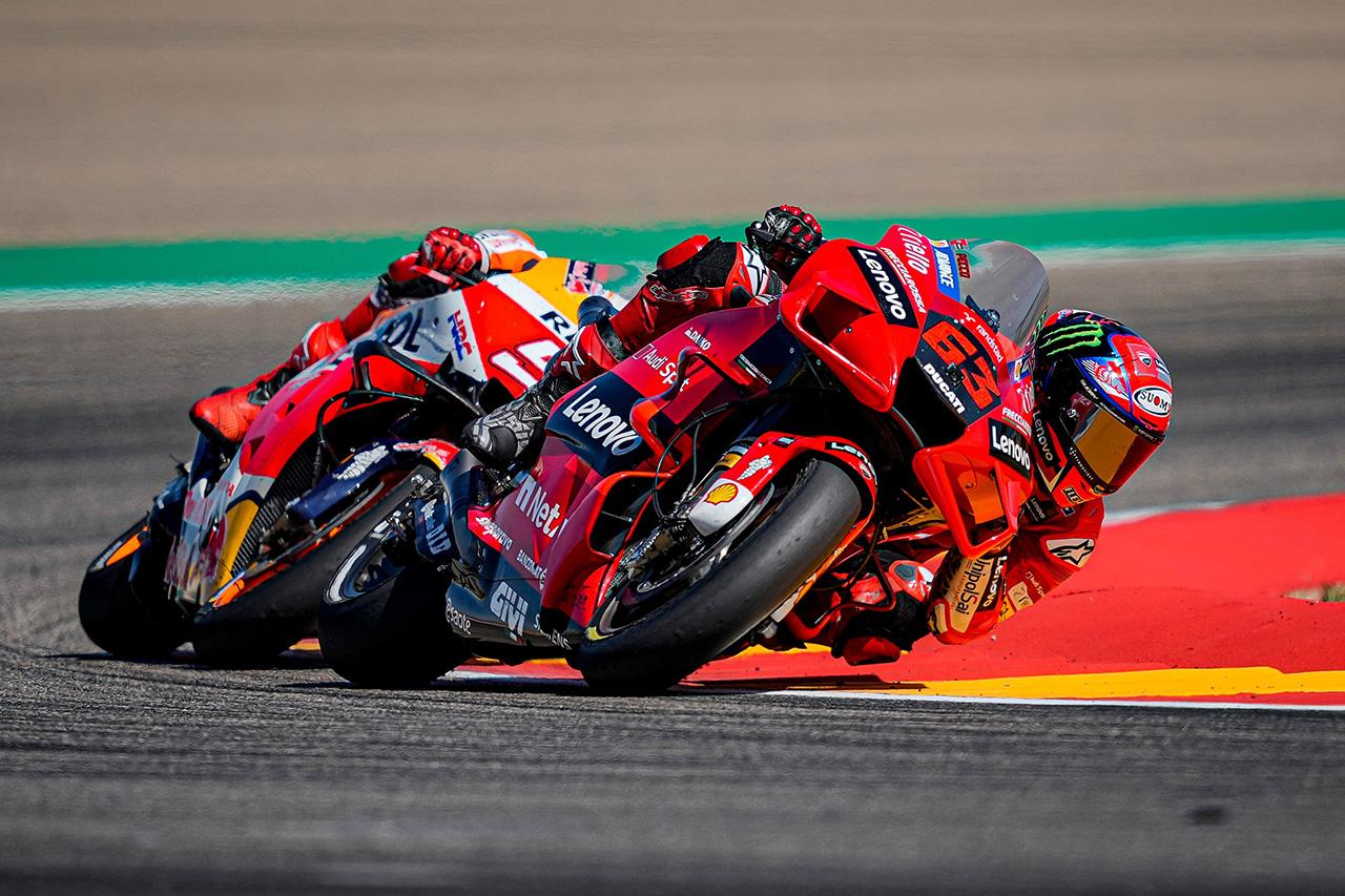 MotoGP アラゴンGP:フランチェスコ・バグナイアが初優勝