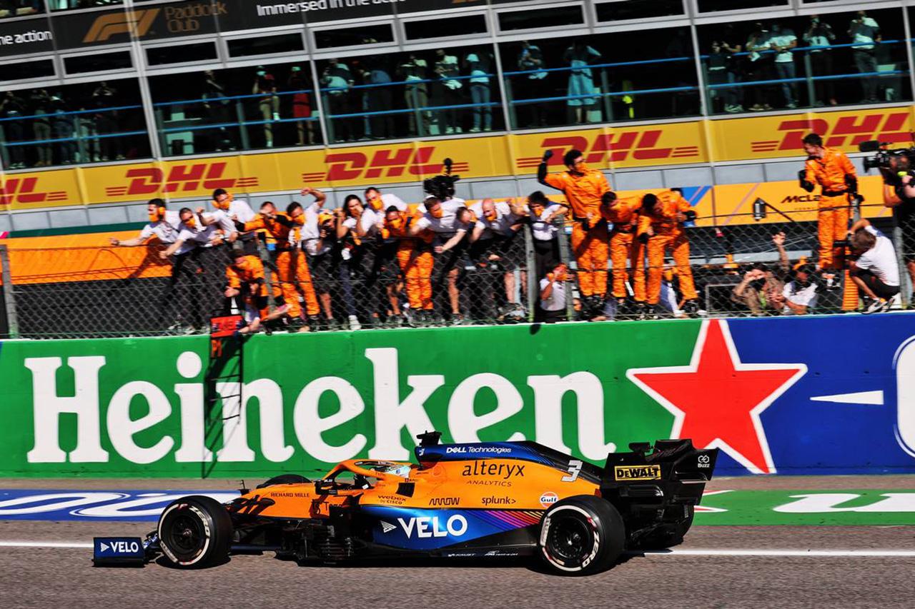 2021年 F1ポイントランキング (第14戦 F1イタイラGP 終了時点)