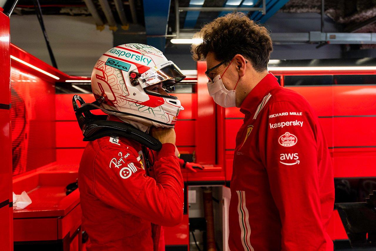 F1:シャルル・ルクレール、体調不良はビノット代表との激論が原因?