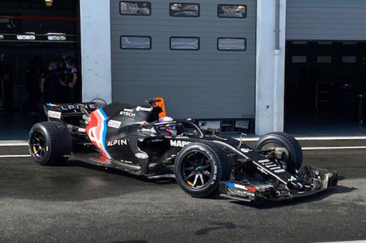 アルピーヌF1、マシンの技術的問題で18インチタイヤの最終テストを断念