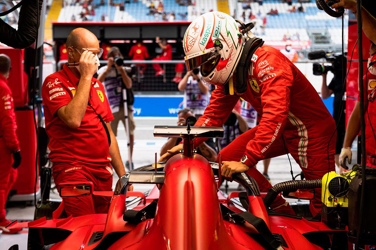 フェラーリF1のシャルル・ルクレール 「新型MGU-Hに大きな変化は期待していない」 F1ロシアGP記者会見