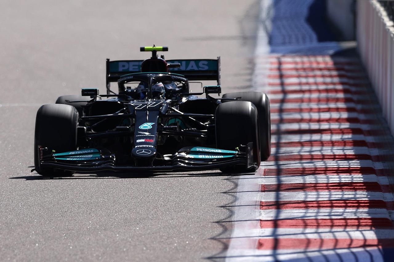 F1ロシアGP フリー走行2回目:ボッタス最速でメルセデスが再び1-2。ガスリーが0.252秒差で3番手