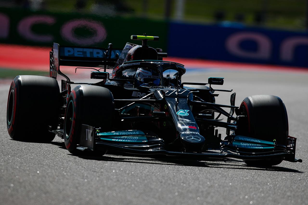 F1ロシアGP フリー走行1回目:ボッタス首位でメルセデスがワンツー。0.2秒差でフェルスタッペンが3番手