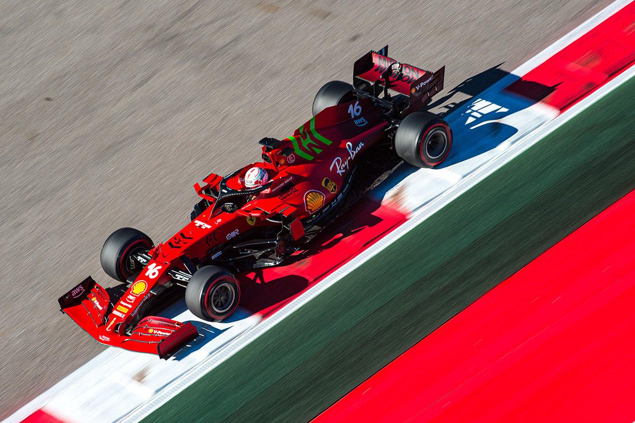 シャルル・ルクレール 「新型PUの改善はデータにも表れている」 フェラーリ F1ロシアGP 金曜フリー走行
