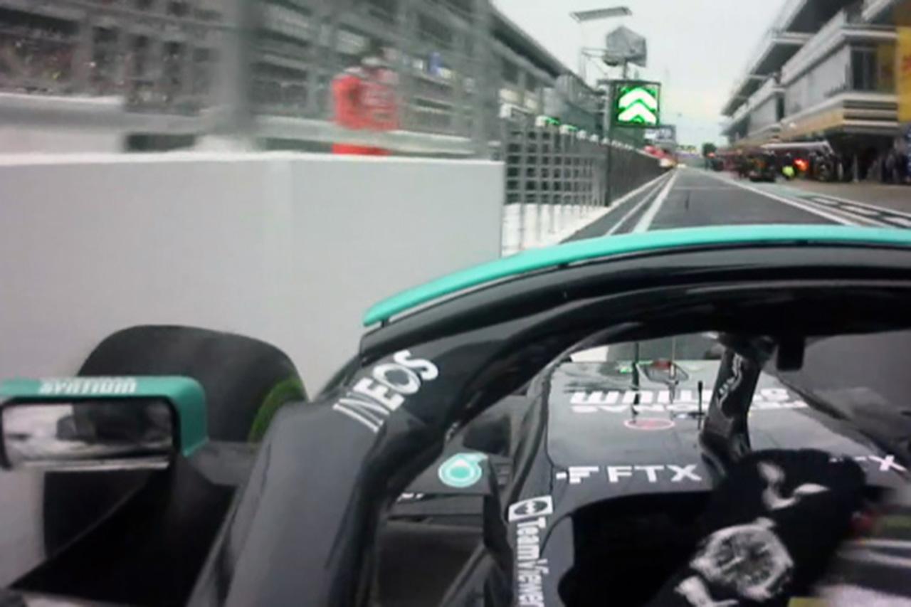 【動画】 ルイス・ハミルトン、ピットロードのウォールに接触 / F1ロシアGP 予選