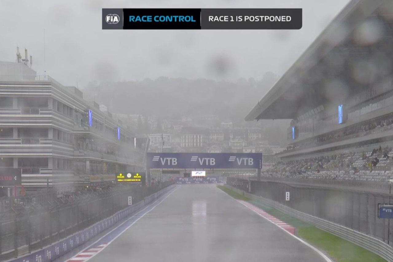 F1ロシアGP 土曜日:雨でFIA-F2のレース1は延期