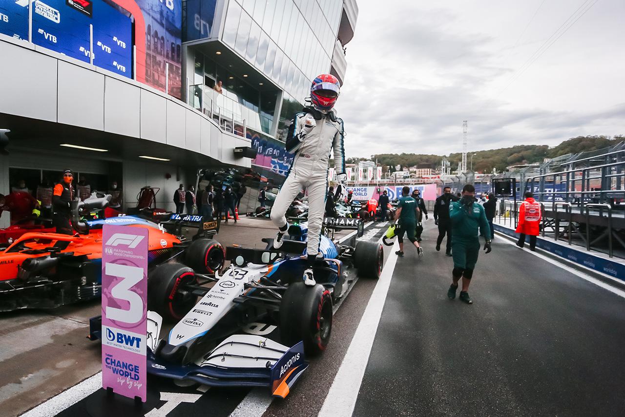 ジョージ・ラッセル、見事な3番手「僕たちは今波に乗っている!」 F1ロシアGP 予選