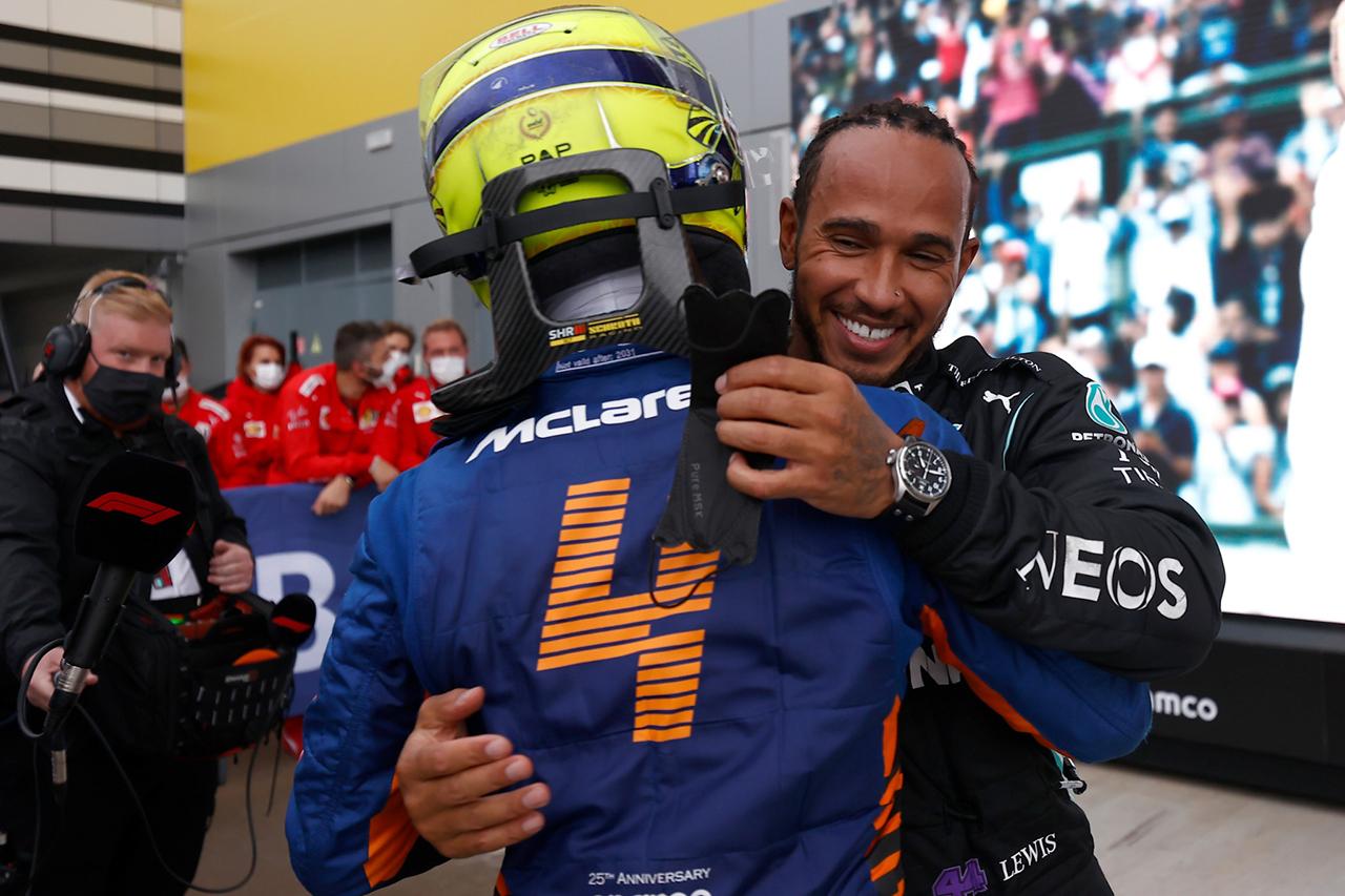 ルイス・ハミルトン 「雨がなければノリスに勝てなかったかもしれない」 F1ロシアGP 決勝