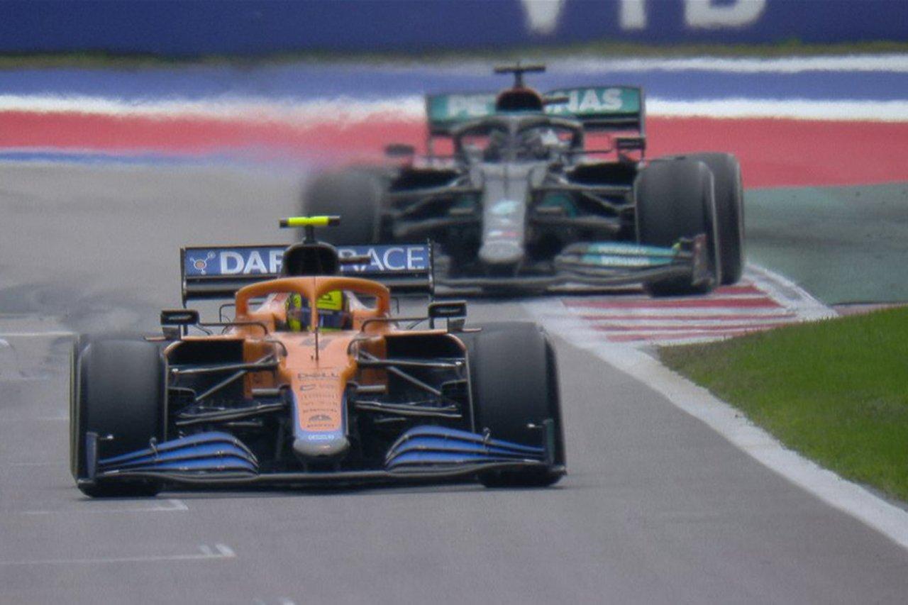 マクラーレンF1代表 「スリックでステイアウトさせたのはチームの責任」 F1ロシアGP 決勝