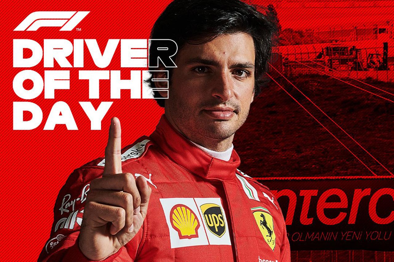 F1トルコGP:カルロス・サインツ、ドライバー・オブ・ザ・デイ初選出