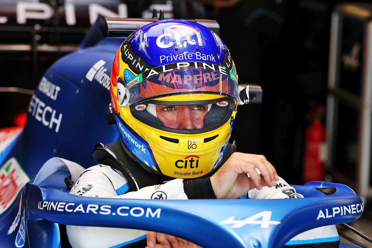 フェルナンド・アロンソ 「かなり要求の厳しいトラックコンディション」 アルピーヌ F1アメリカGP 金曜フリー走行