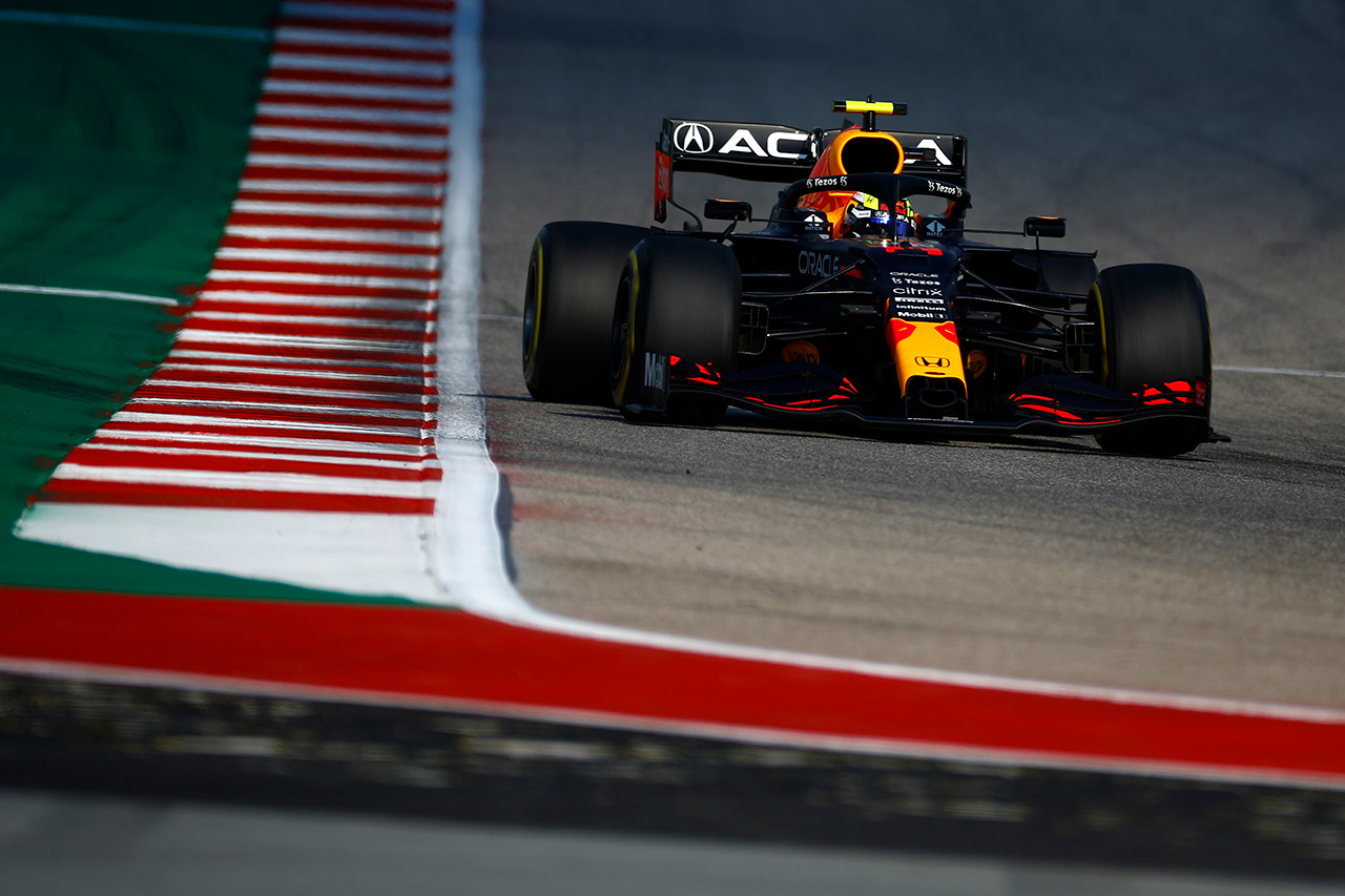 F1アメリカGP フリー走行3回目:ペレス首位でレッドブル・ホンダが1-3