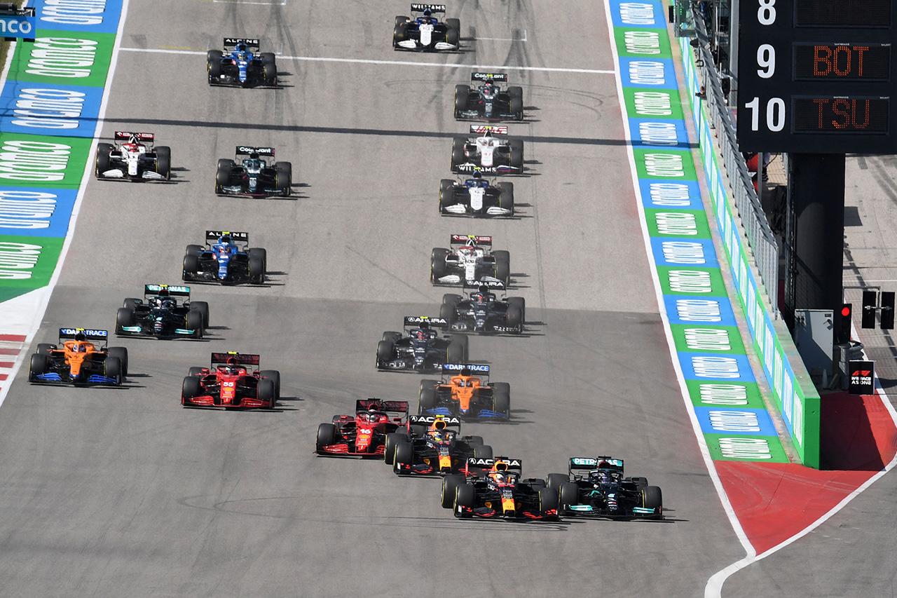 【速報】 F1アメリカGP 結果:フェルスタッペン優勝でホンダF1がW表彰台!角田裕毅9位入賞